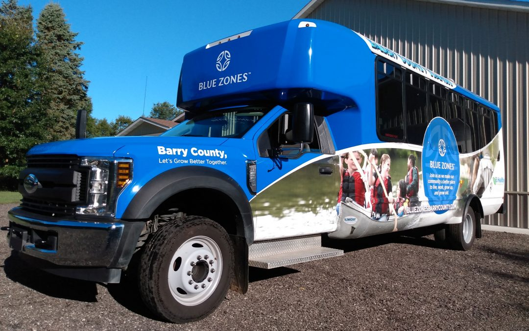 Blue Zones: Barry County Bus Wrap
